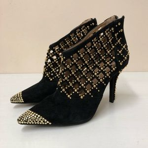 Jeffery Campbell studded cut-out Booties (7.5)